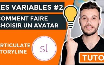 Comment faire / choisir un avatar au début de votre e-learning avec Articulate Storyline 360 ?